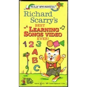 Richard scarry 39 s best learning songs video for Best house songs ever