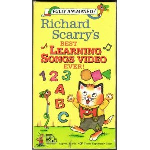 Richard scarry 39 s best learning songs video ever school for Best house songs ever