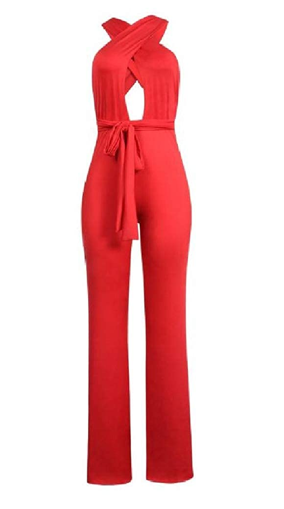 Coolred-Women Lace-up Nightclub Multi-Way OL Wrapped Jumpsuit Romper