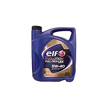 Elf Aceite Motor Evolution Full-Tech LSX 5 W40 – Garrafa de 5 L