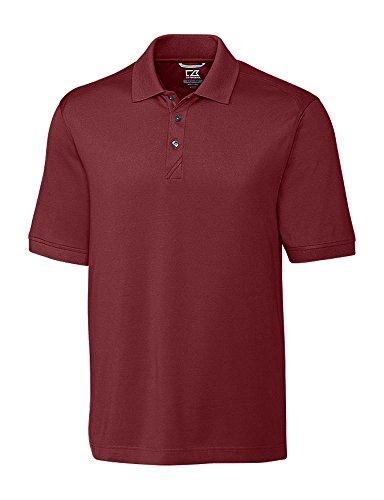Cutter & Buck Men's 35+UPF, Short Sleeve Cotton+ Advantage Polo Shirt, Bordeaux, XLarge Tall ()