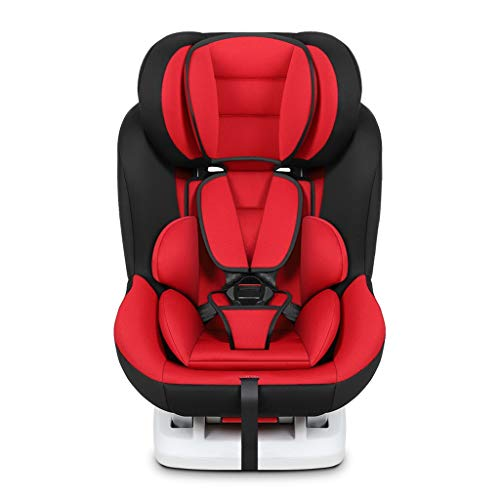 GY Child Safety Car Seat, Adjustable Backrest, Side Collision Protection, ISOFIX Interface, 0-6 Year Old Convertible Car Seat, 3 Colors, 474762cm (Color : Red)