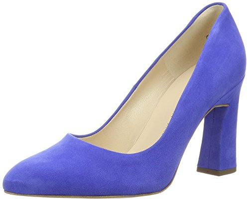 Peter Kaiser Women's Carolin Closed Toe Heels Blue (Riviera Suede 590) t3Xcf