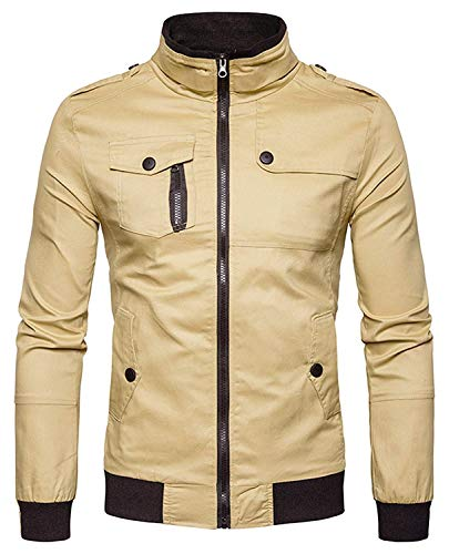 Hop Harrington fashion Bomber Basic Béisbol Long Chicos Chaqueta Color De Sleeve 5 2XL Unisex Khaki Size Laisla Jacket Urban Chaquetas Hip Clásico Outerwear dAqxwttpY