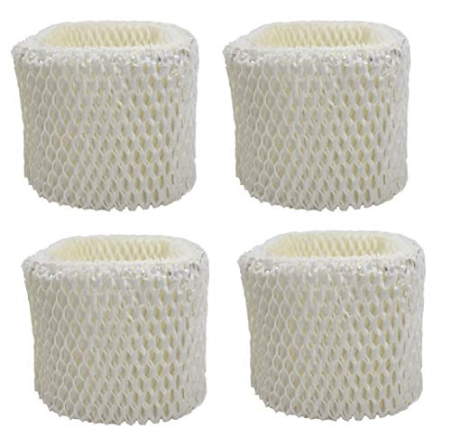 Air Filter Factory 4- Pack Compatible Replacement for Holmes HWF62, HWF62D, HWF-62, H62, H-62 Humidifier Wick Filter