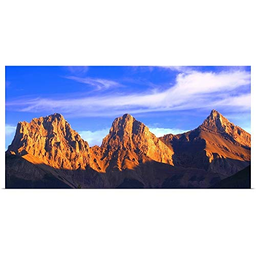 GREATBIGCANVAS Poster Print Entitled Three Sisters Mountain, Canmore, Alberta, Canada by Carson Ganci 48