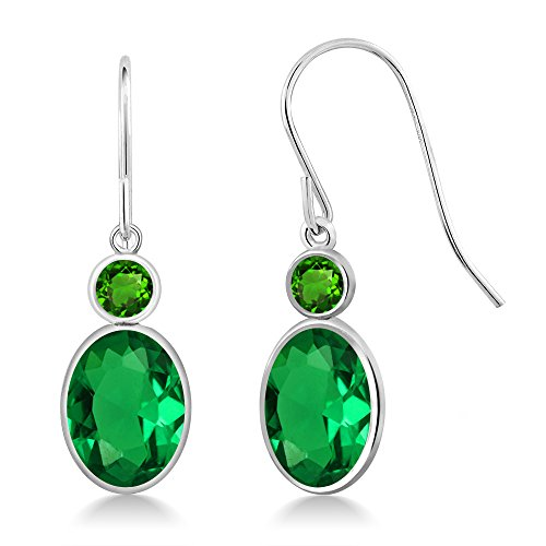 2.28Ct Green Simulated Emerald Green Simulated Tsavorite 14K White Gold (Gold Tsavorite Ring)