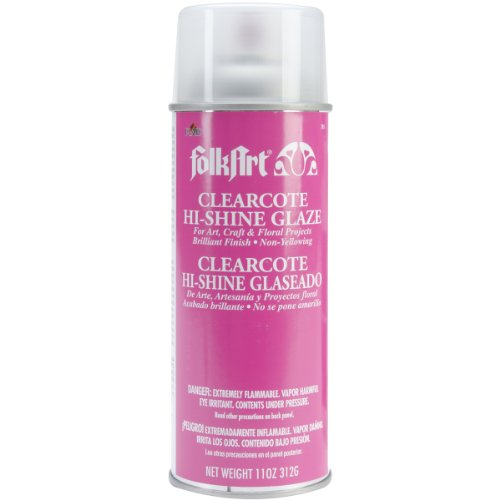 FolkArt 785 Clearcote Hi Shine Glaze Spray, 11 Ounce, Clear ()