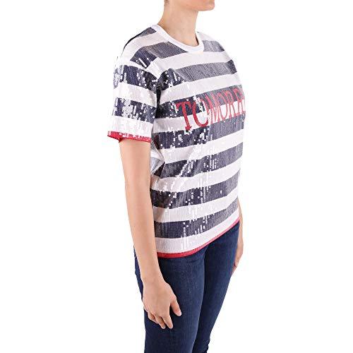 shirt Coton Alberta Bleu Femme T J071001951318 Ferretti nzxqpxFY