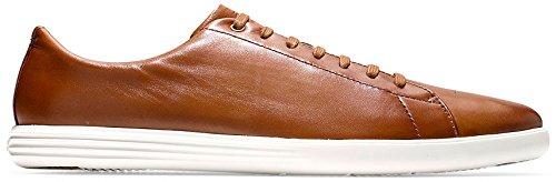 Cole Haan Men's Grand Crosscourt II Sneaker, Tan Leather Burnished, 10.5 Medium (Mens Grande)