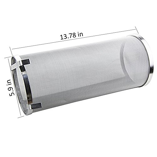 Hop Spider 300 Micron Mesh Stainless Steel Hop Filter Strainer for Home Beer Brewing Kettle by TIZZE (Image #2)