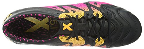 best store to get online 2014 new cheap online Adidas X 15.1 FG/AG Leather Mens Football Boots Soccer Cleats (Black (Core Black/Shock Pink/Solar Gold AQ5791) BMKxr