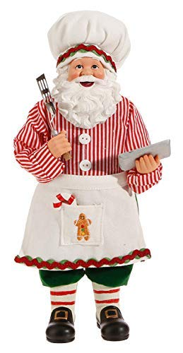 RAZ Standing Baker Santa Statue Christmas Holiday Figurine Small Home Office Fireplace Mantel Tree Decoration 3715516 11