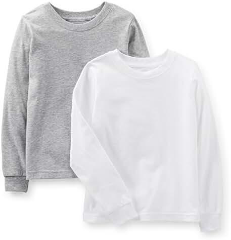 Carter's Little Boys' Long Sleeve 2-pack Cotton Undershirts