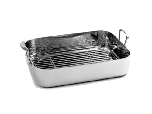 Norpro KRONA Stainless Steel 16.25 x 12.5 Roaster with Rack by Norpro