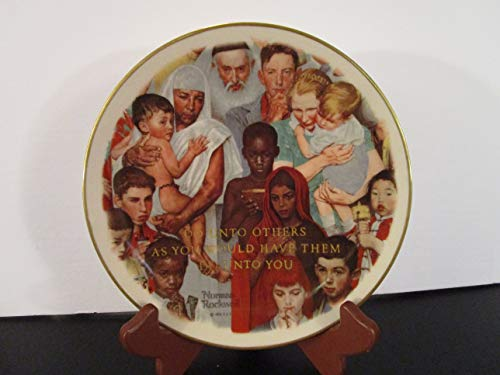 Norman Rockwell Gorham Golden Rule Collectible Plate
