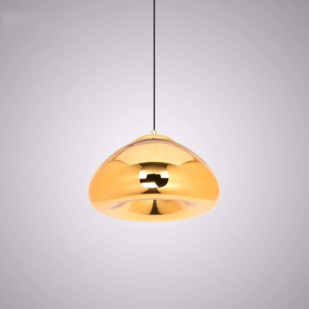 FuweiEncore Western Restaurant Kronleuchter Galvanikglas Café dekorative Lampen Gold 30Cm