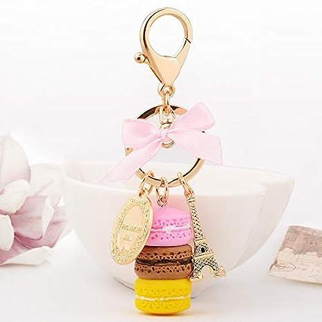Amazon.com: Rarido Lovely Food Cake Macaron Keychains ...
