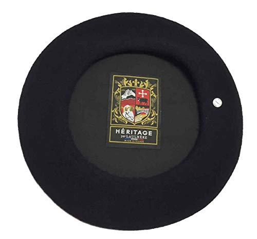 Laulhere Heritage Classiques Authentique Traditional French Wool Beret (Marine) Navy Blue