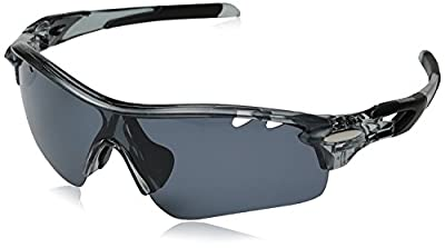 Hulislem Blade Sport Polarized Sunglasses, Smoke - Matte Black
