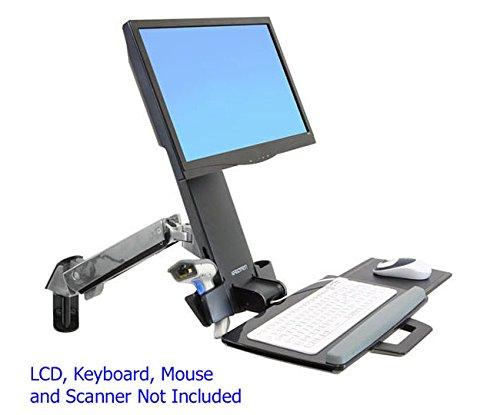 Ergotron StyleView Combo Mount for Notebook, Mouse, Keyboard, Flat Panel Display, Scanner - 24