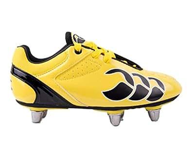 Canterbury Junior Phoenix Club 6 Stud Rugby Boots, Yellow, 4.5 AU