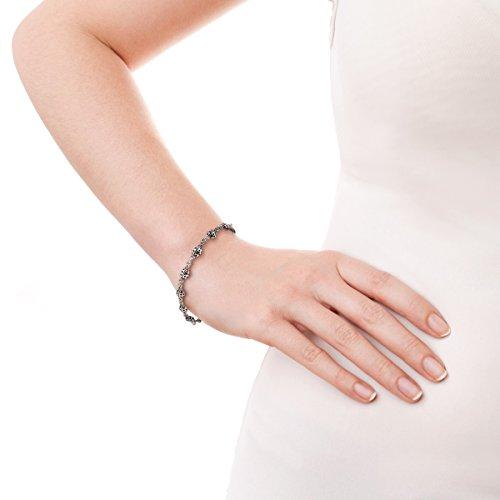 esterlina de linda de encantadora pulsera plata y de adorno con tenis Aeravida 925 Mariquita 8UHqnaW8