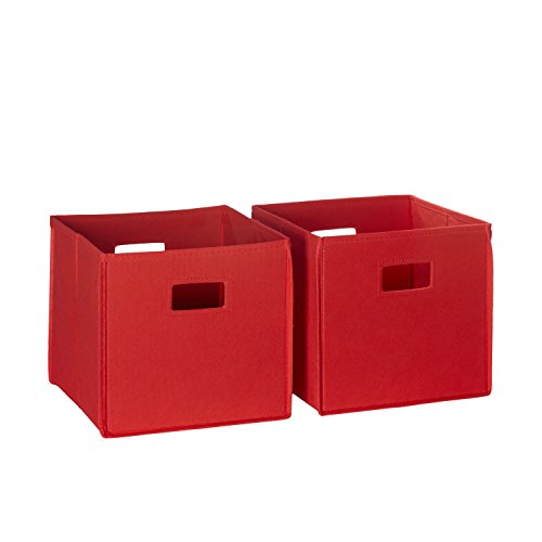 RiverRidge 02-010 2-Piece Folding Storage Bin, Red