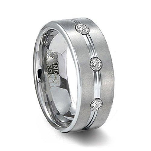 brushed-finish-tungsten-wedding-band-cz-gems-8mm-width-size-115