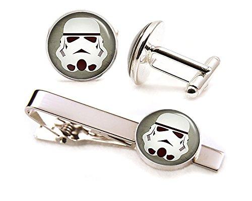 Stormtrooper Tie Clip, Star Wars Cufflinks, Stormtroopers Jewelry, Jedi Cuff Links, Darth Vadar, Death Star, Wedding Party