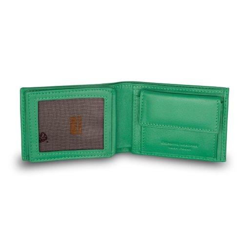 Cartera de cuero muy pequeña del hombre con monedero por Nuvola Pelle Color Light green