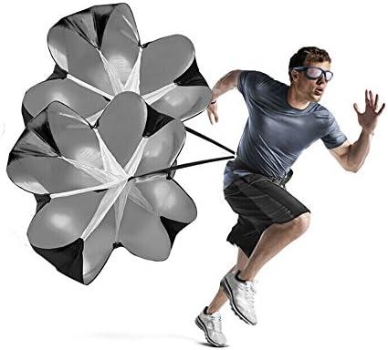 "KUYOU Geschwindigkeits-Training Widerstand 56"" Zoll Fallschirm Geschwindigkeit Training Laufschirm Sprint Fitness Leistung Lauftraining"