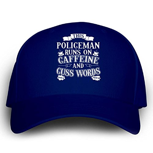 [This Policeman Runs On Caffeine And Cuss Words - Cap] (Cheap Police Hats)