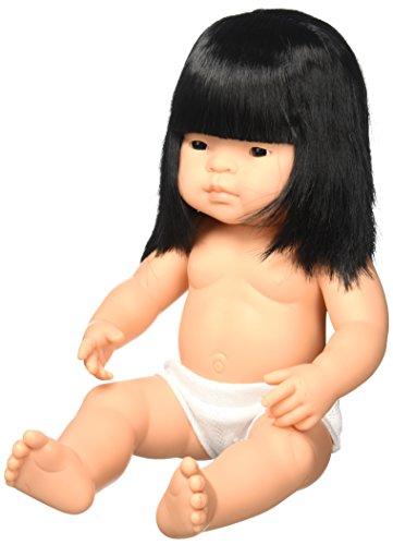 Miniland 15'' Anatomically Correct Baby Doll, Asian Girl