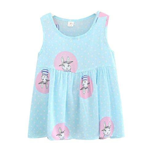 Koala Superstore [K] Kids' Pajama Home Nightdress Sleeveless Cotton Dress Vest Skirt for Girls by Koala Superstore