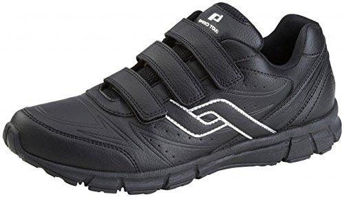 Pro chaussures tactile de marche avec Velcro Trainers City - noir, 44