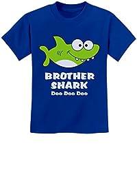 Tstars - Brother Shark Doo Doo Gift for Big Brother Youth Kids T-Shirt