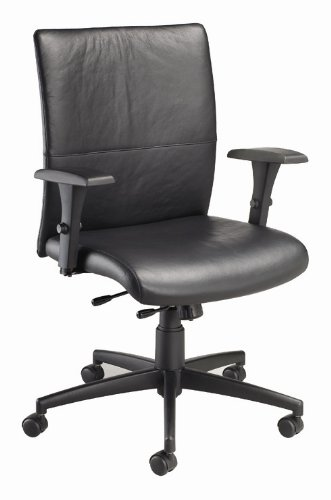 Tuxedo Executive Chair In Black (Leather   Black)