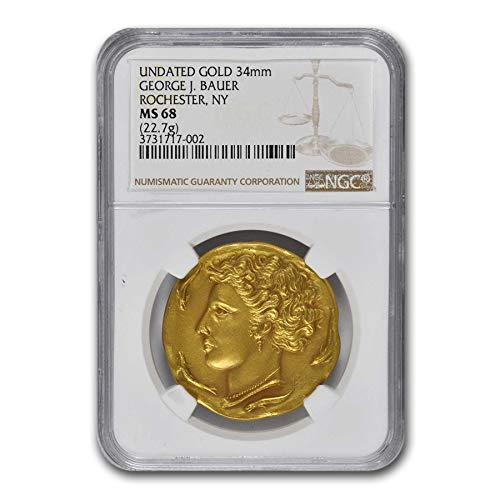 1930-1932 George J Bauer Gold Medal MS-68 NGC Gold MS-68 NGC