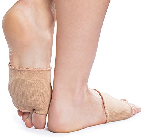 NatraCure Metatarsal Gel Sleeve with Forefoot Cushion Pad (1 Pair) - Supports Ball of Foot Health (Size: L/XL - Metatarsal Sleeve - Shoe/Boot)