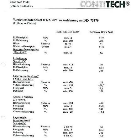 Made in Germany VE-Professional Benzinschlauch 6mm Edelstahl V2A ContiTech /Ölschlauch Stahlflex