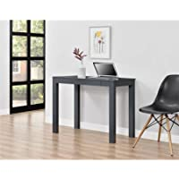 Parsons Desk with Storage Drawer in Gray