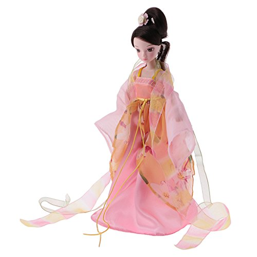 Dovewill Flexible 10 Joints 28cm/11inch Vinyl Body Costume Doll Chinese Autumn Fairy Style DIY Toys Birthday (Diy Fall Fairy Costume)