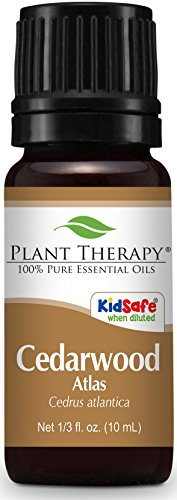 Plant Therapy Cedarwood Atlas Essential Oil. 100% Pure, Undiluted, Therapeutic Grade. 10 ml (1/3 oz). (Thyme Plant Therapy Oil)