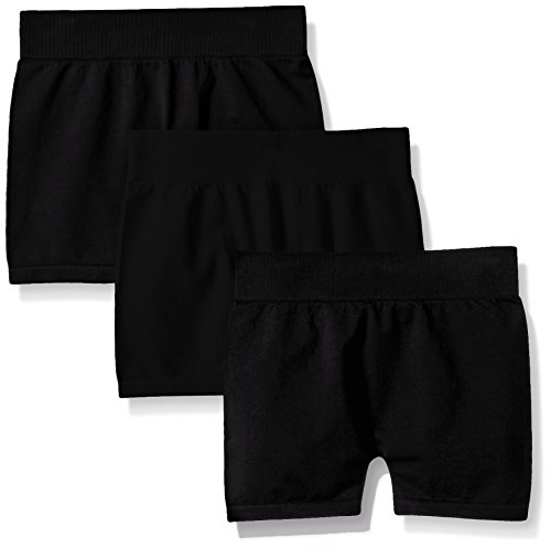 Pink House Little Girls' Toddler 3 Piece Seamless Short Black/Black/Black, 2-4T by Pinkhouse