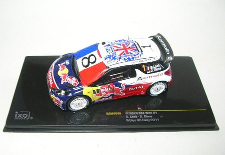 1/43 CITROEN DS3 WRC Wales GB Rally RedBull #1(ホワイト×ブルー×レッド) RAM464B