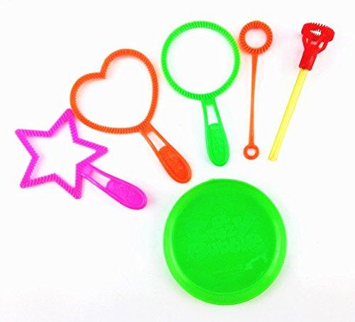 Honbay 6pcs Mix Color Bubble Wand Tool Bubble Maker Blower Set ()