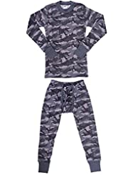 Platinum Junior Boy's Camouflage 2 Piece Thermal Long Sleeve and Pant Underwear Set