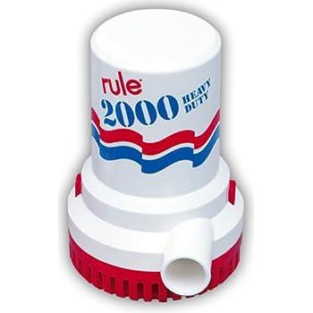 Image of Bilge Pumps Boating Accessories New Rule 2000 Pump 24 Volt RUL 12