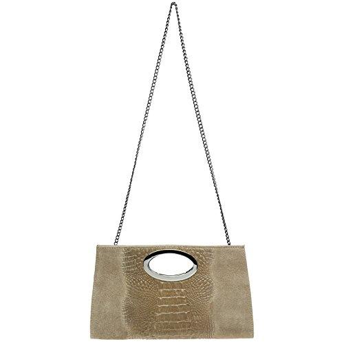 CASPAR Fashion - Cartera de mano para mujer talla única, color marrón, talla talla única